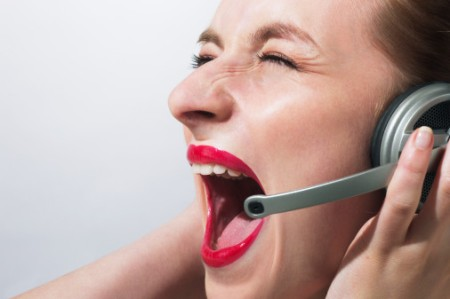 Telemarketing gritando