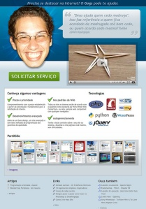 Screenshot do site www.gogs.com.br